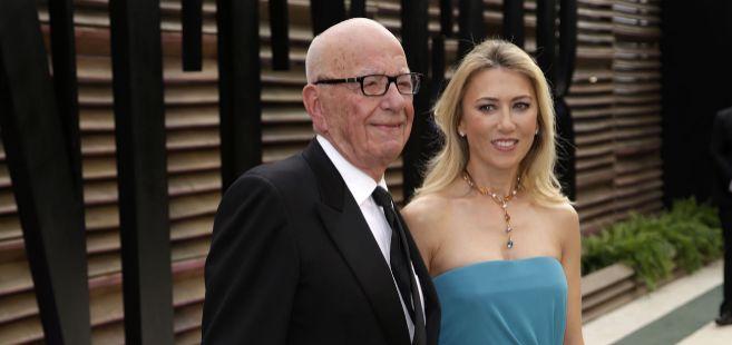 Rupert Murdoch y novia